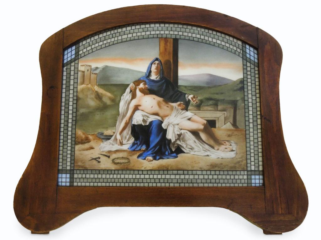 Secesní obraz Piety