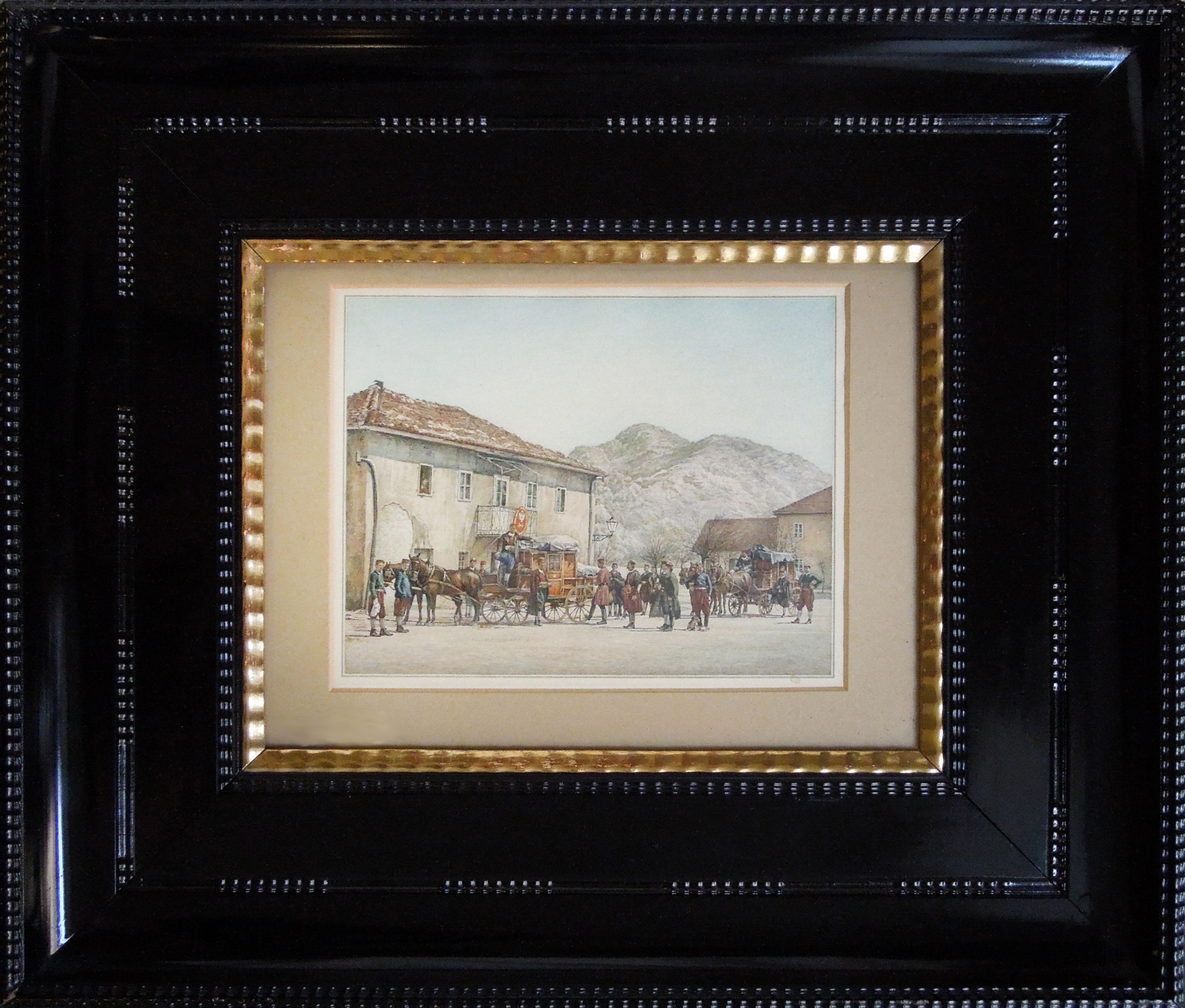 Před poštovním úřadem v Cetinje, Černá Hora