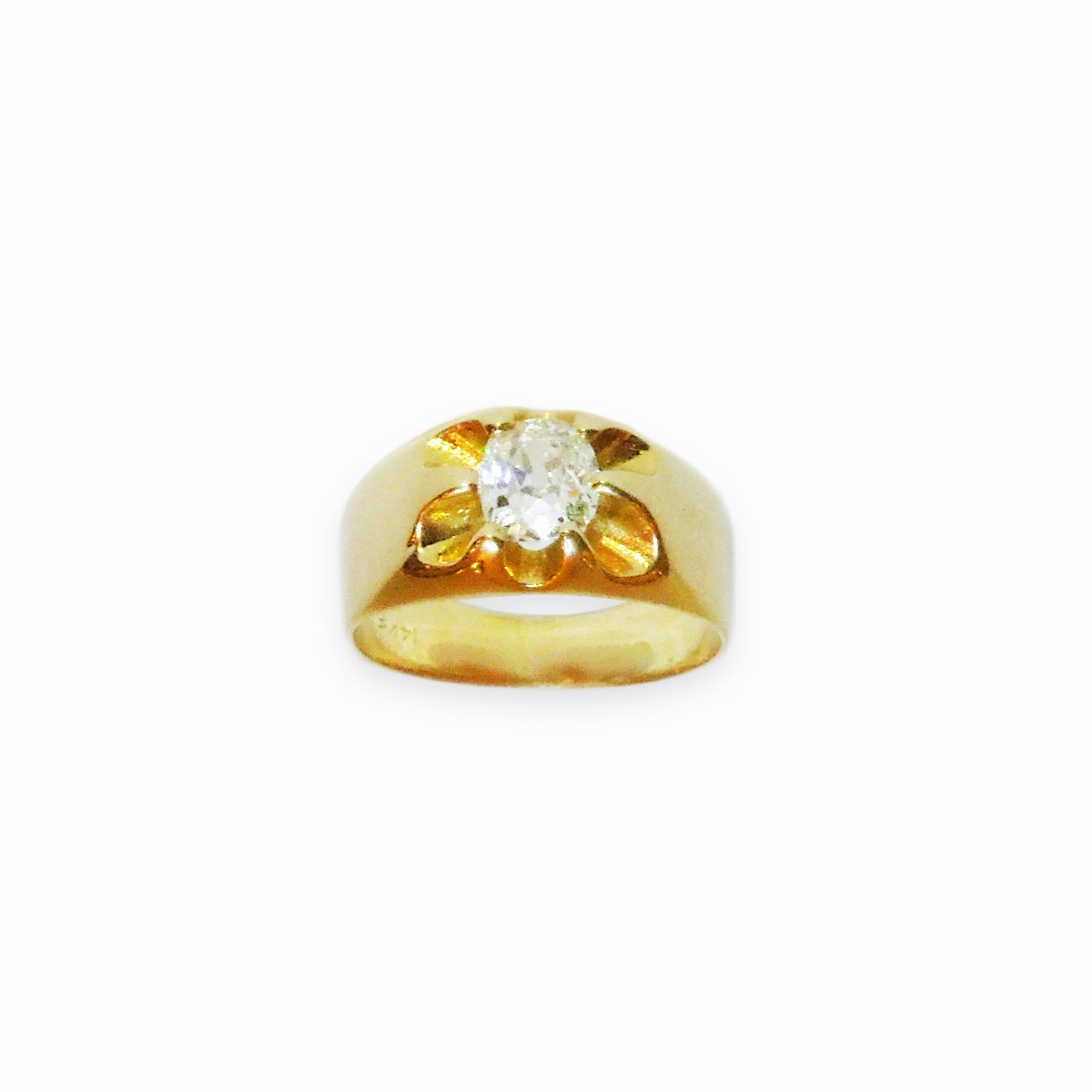 Prsten s diamantem, 19. století