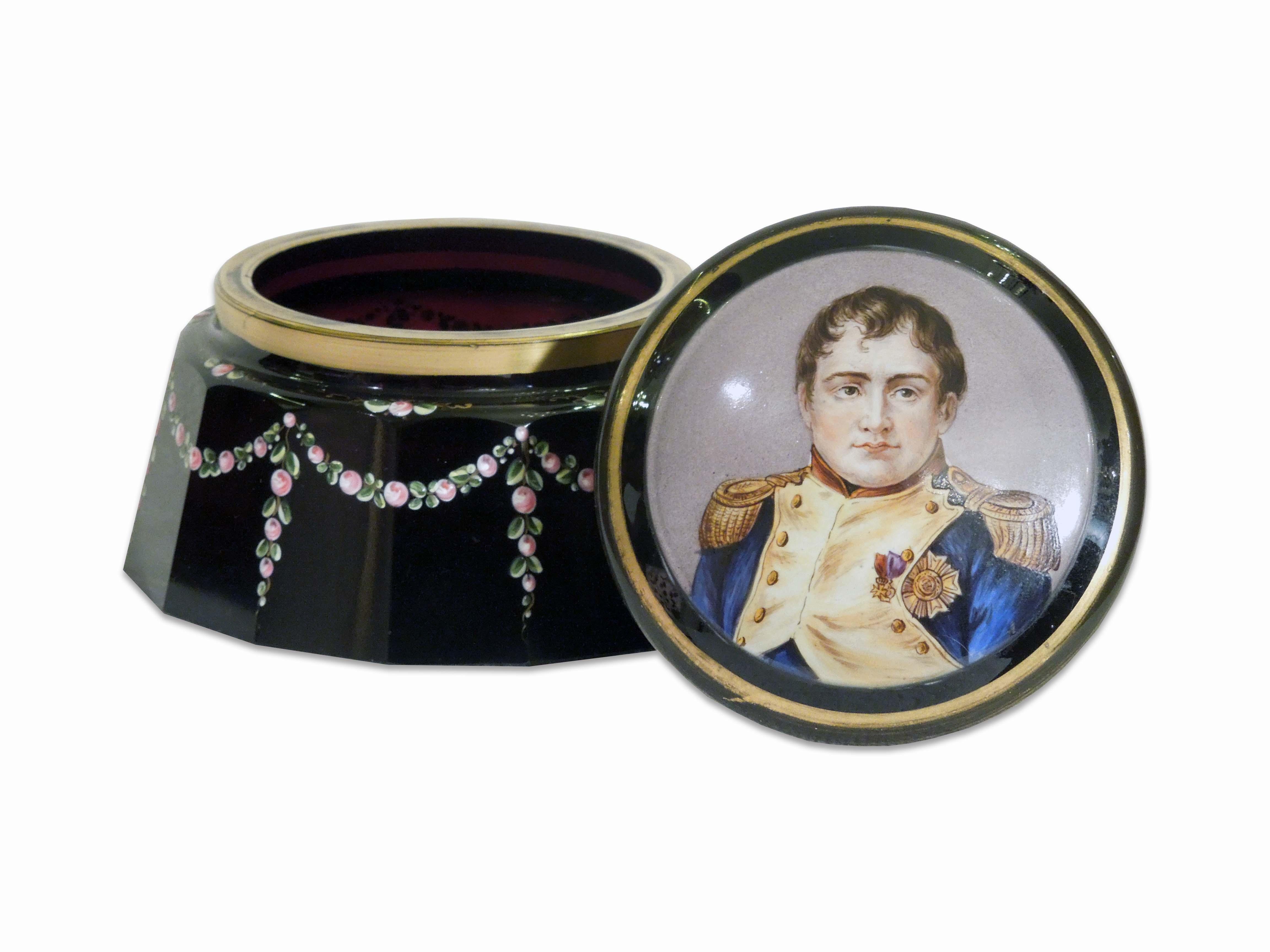 Dóza s miniaturou Napoleona
