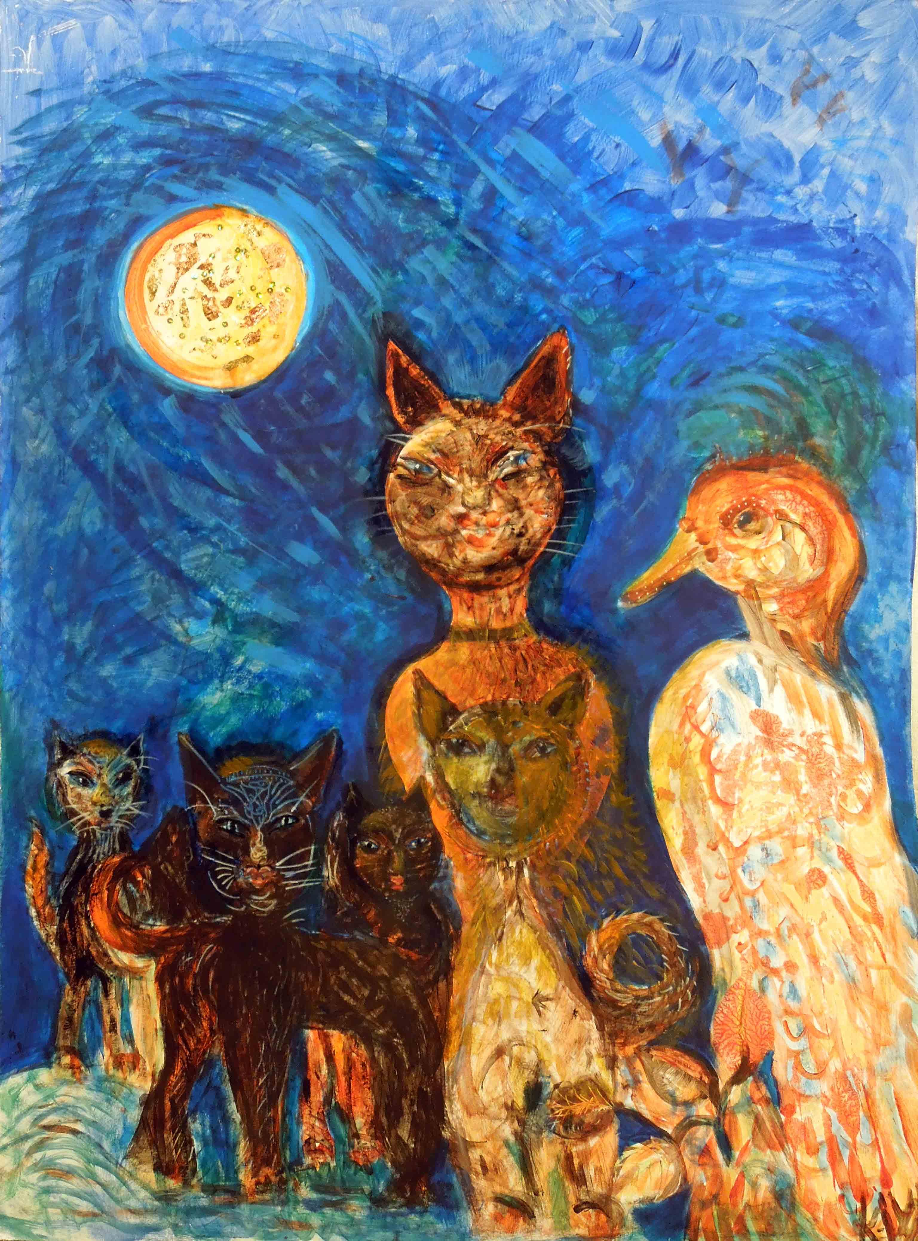 Kočky při měsíci, Kamila Waldhauserová