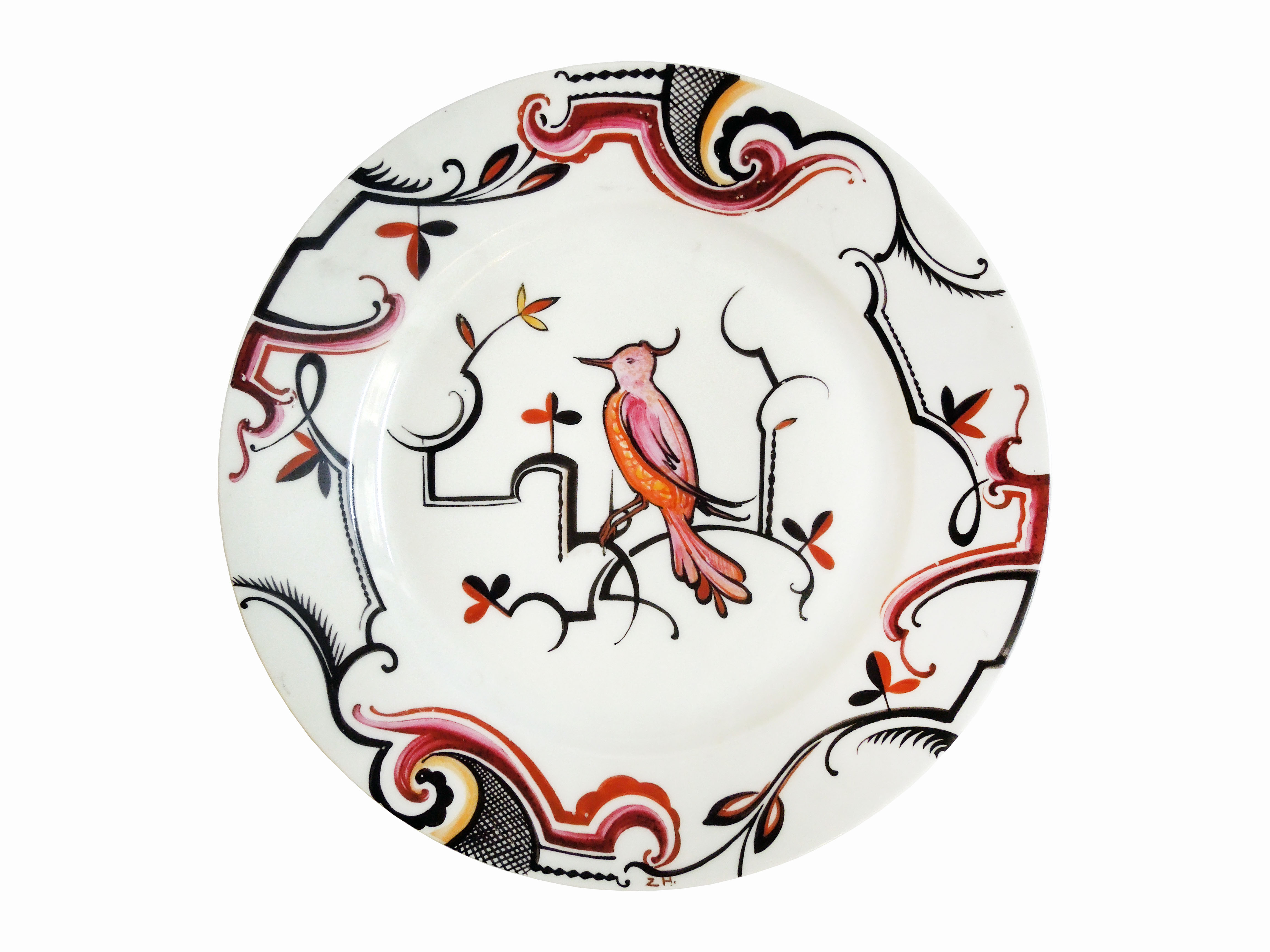 Ručně malovaný talíř, Art Deco