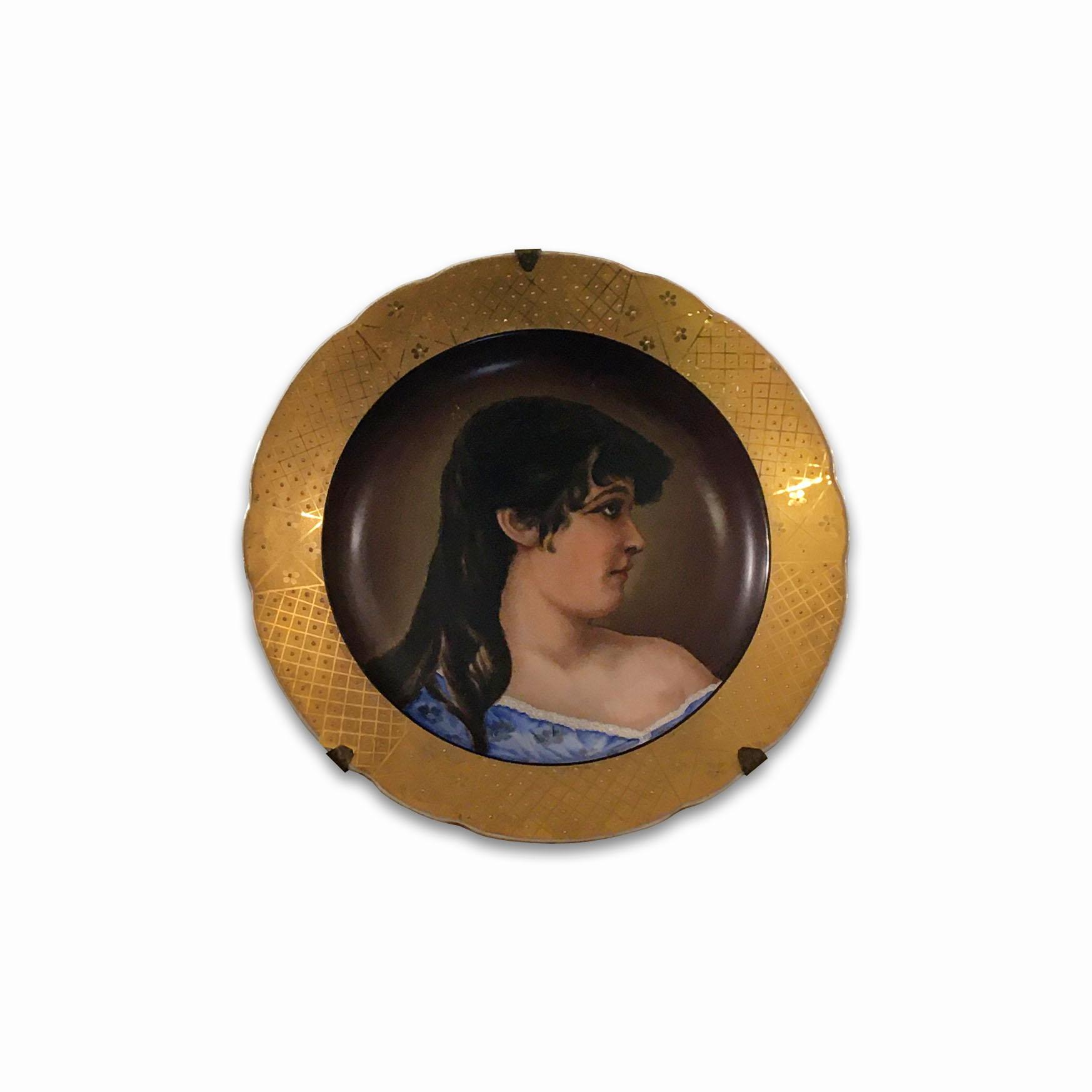 Dekorativní talíř s černohorkou