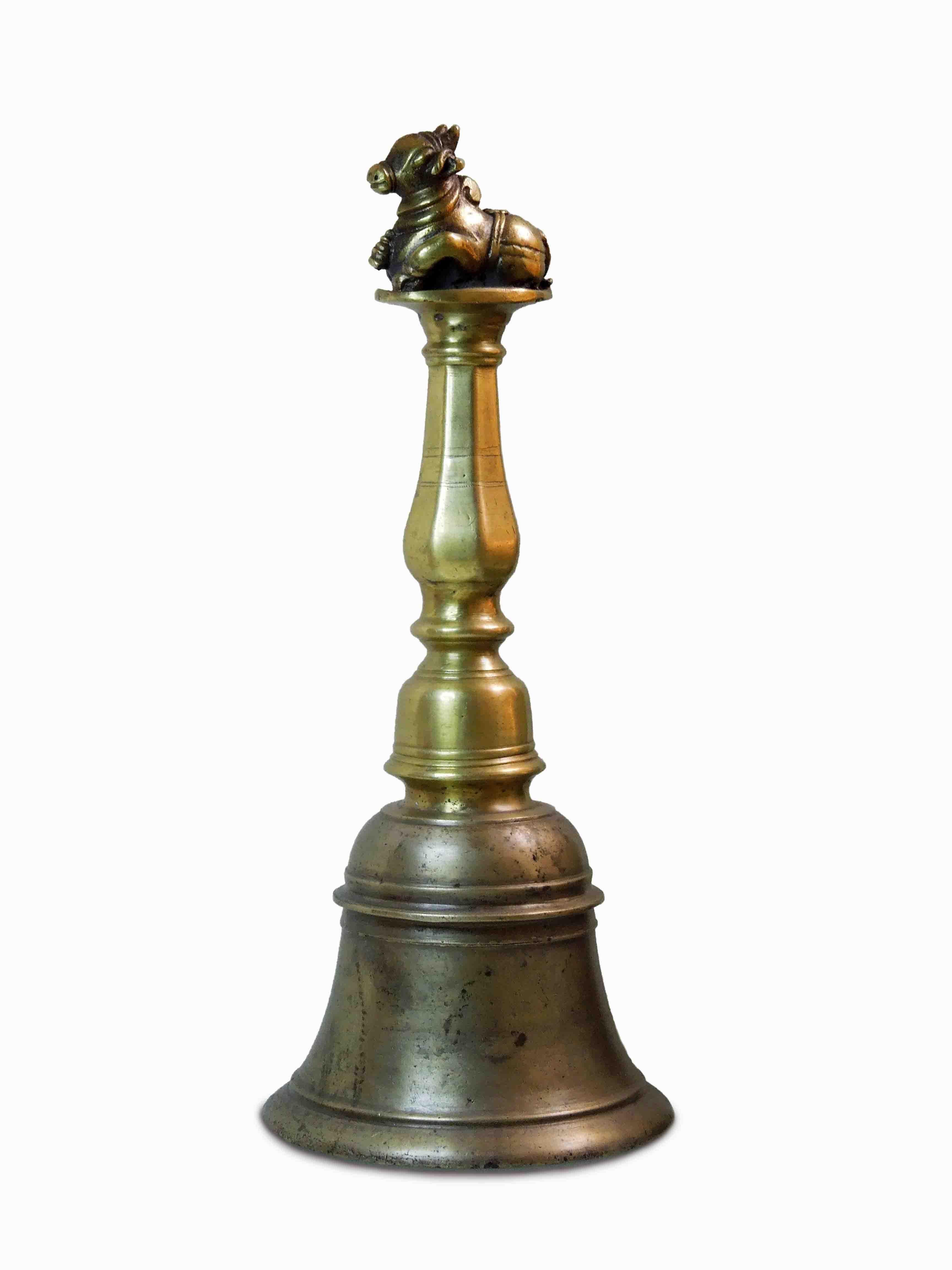 Indický rituální zvon s býčkem
