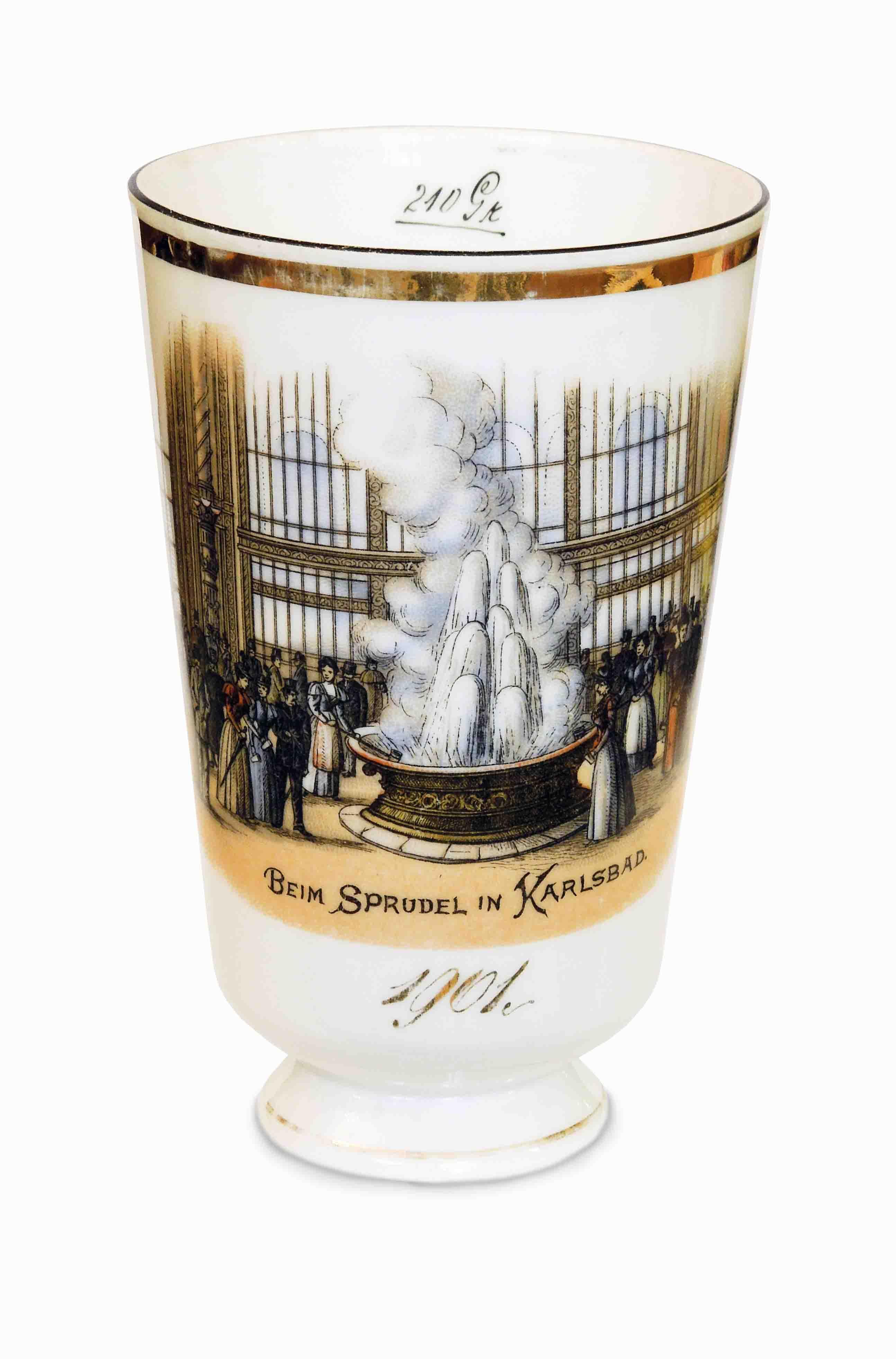 Lázeňský pohárek 1901