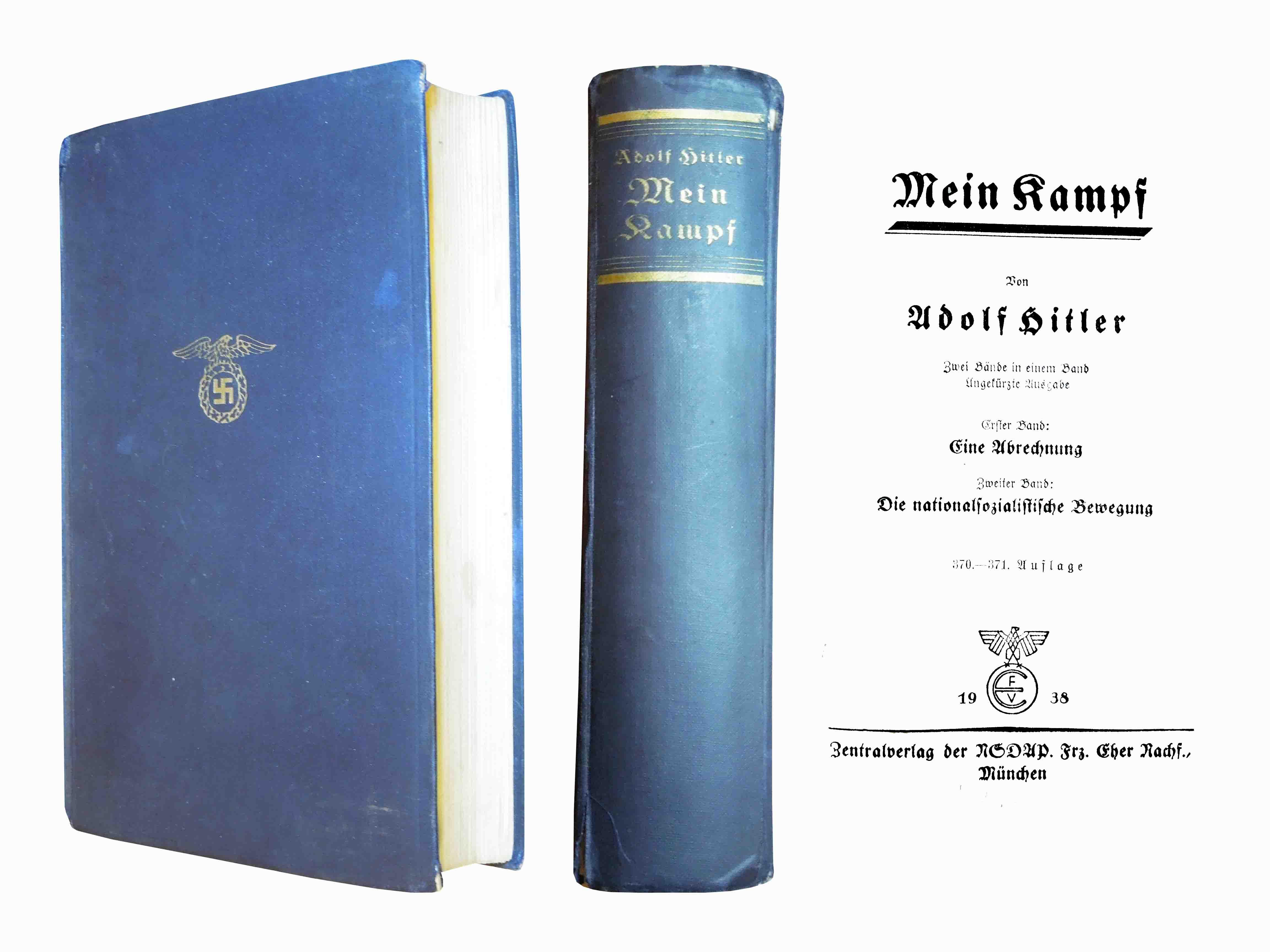 Kniha Mein Kampf, Adolf Hitler, 1938