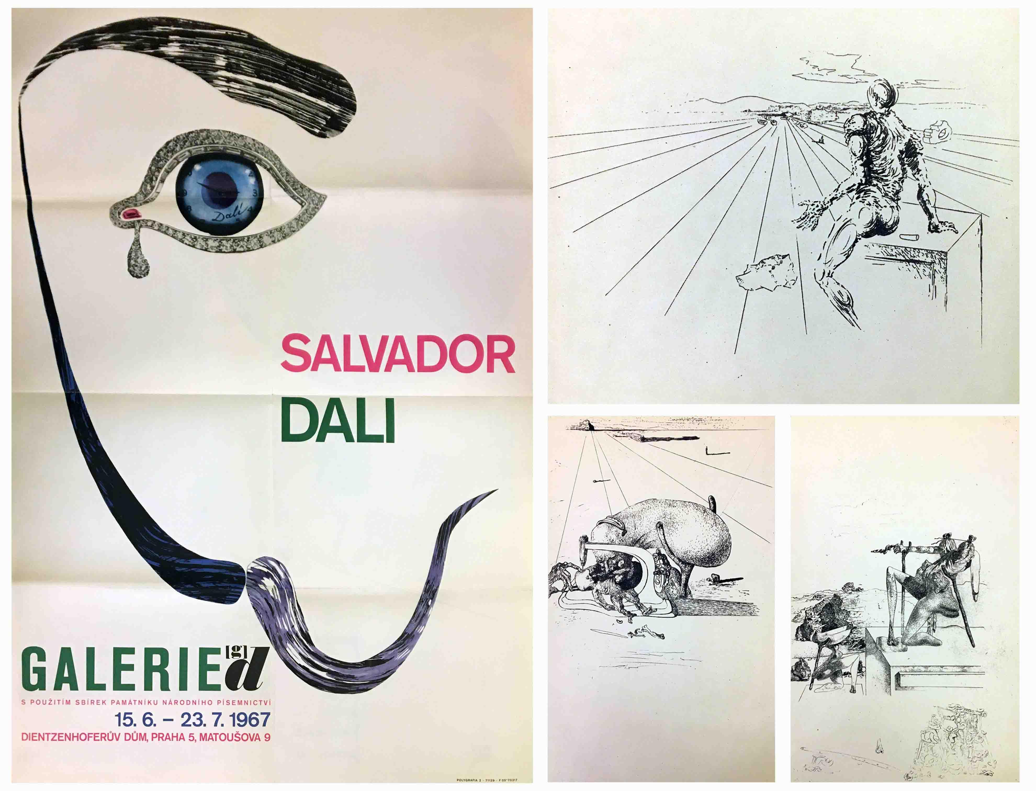 Salvador Dalí katalog výstavy, plakát, grafiky